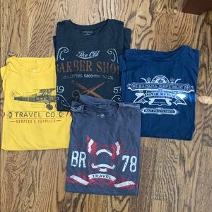 Men's Banana Republic set of 4 tees